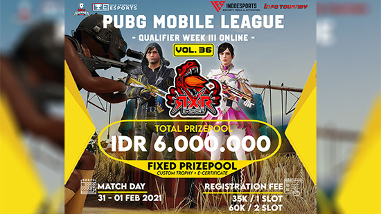 turnamen pubgm pubgmobile januari 2021 rxr season 36 week 3 logo
