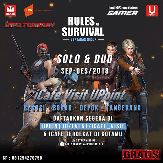 turnamen ros rules of survival icafe visit upoint september november desember 2018 poster