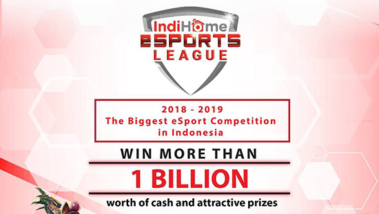 turnamen vainglory indihome esports league maret april mei 2018 logo