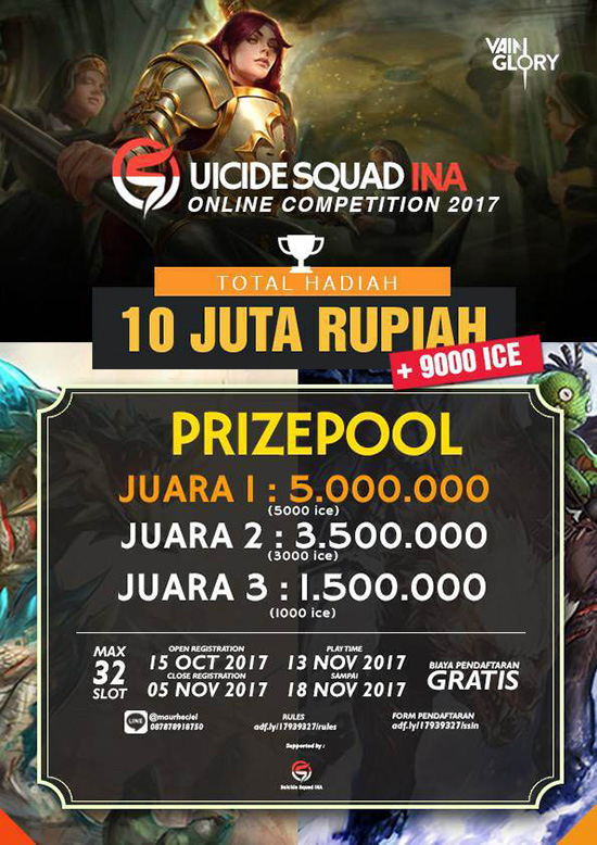 tourney vainglory suicide squad ina november 2017 poster